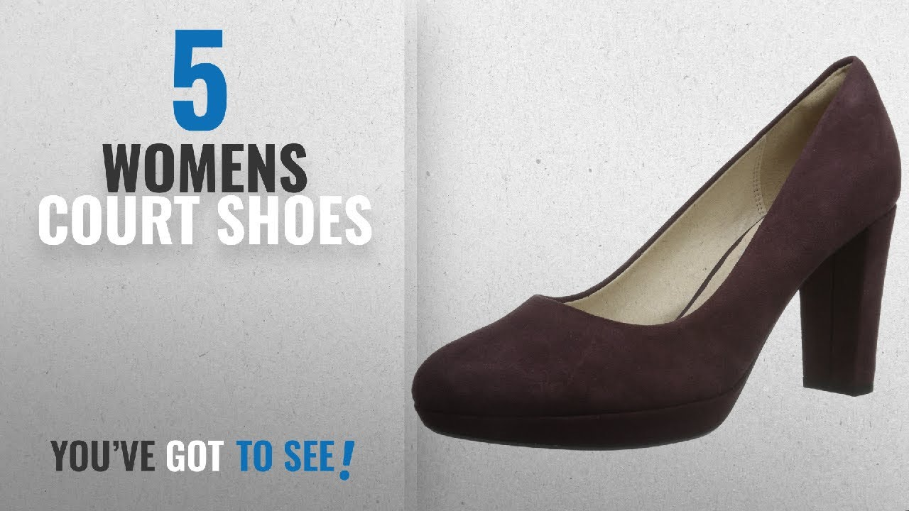 8daf4665 Top 10 Womens Court Shoes [2018]: Clarks Kendra Sienna, Women's Closed-Toe  Pumps, Purple