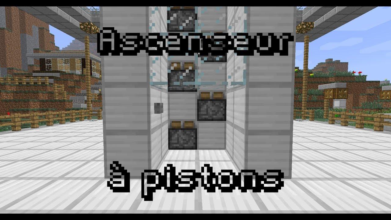 Minecraft Tuto Redstone Ascenseur Pistons