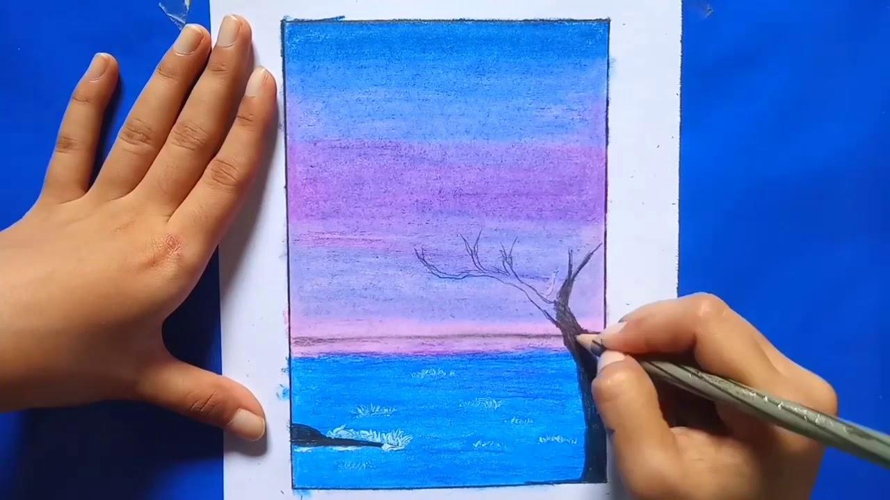 Cara menggambar pemandangan 2 orang sahabat bagi pemual ...