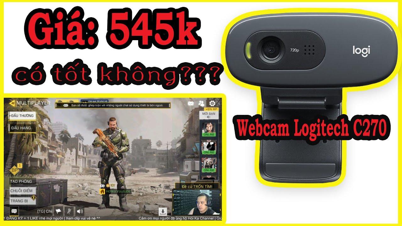 Webcam Logitech C270-Gọi video HD 720p   Mua hàng Shopee giá rẻ lại free ship chỉ 545.000đ