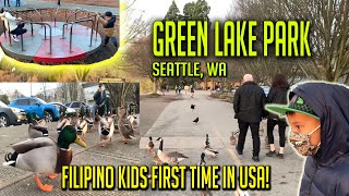 AMAZING DAY AT GREEN LAKE PARK IN SEATTLE, WA - LINGAW KAAYO! FilAm Kids First Time Seeing Geese!