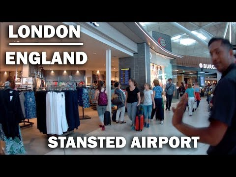 London Stanstead Airport - A walk through the Departure Lounge [HD]
