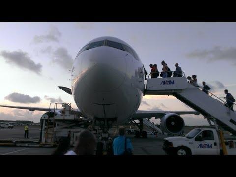 Punta Cana International Airport - Walk close to the aircraft - July 2013 - 1080p