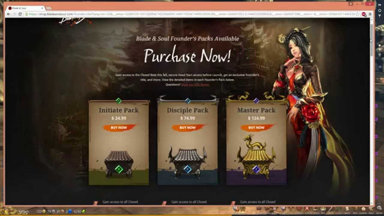 blade and soul founders pack giveaway blade and soul founders packs worth youtube 6065