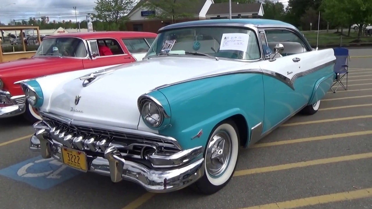 A cool color on this 1956 fairlane ford car