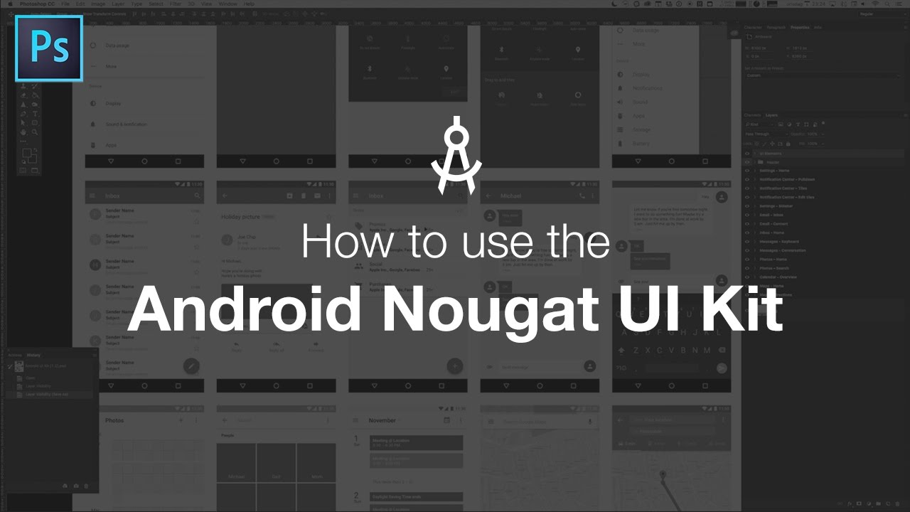 android nougat ui kit apply pixels