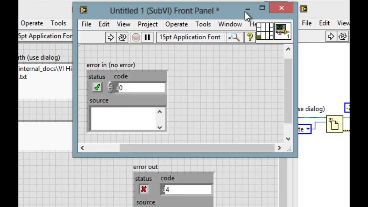 VI High 47 - Learn How to Create Error Handlers and Implement Error  Handling in LabVIEW