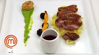 Scallops & Duck in One Dish? | MasterChef UK | MasterChef World