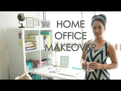 HOME OFFICE MAKEOVER! IKEA, HOMEGOODS, TJMAXX, PINTEREST