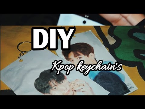 HOW MAKE KPOP KEYCHAIN? DIY KPOP KEYCHAIN SPECIAL STRAY KIDS AND BTS EDITION.