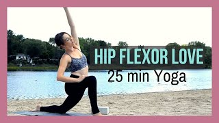 Video Hip Flexor Psoas Yoga - Vinyasa to Stretch & Strengthen Hip Flexors {25 min} download MP3, 3GP, MP4, WEBM, AVI, FLV Maret 2018