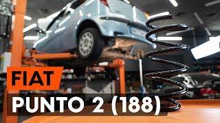 Como substituir molas de suspensão traseira noFIAT PUNTO 2 (188) [TUTORIAL AUTODOC]