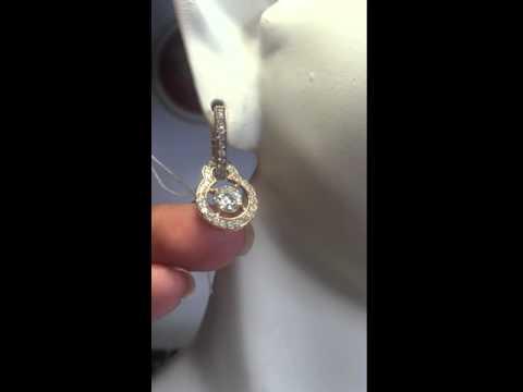 Золотые серьги с бриллиантами 1,75 карат - Артикул 105
