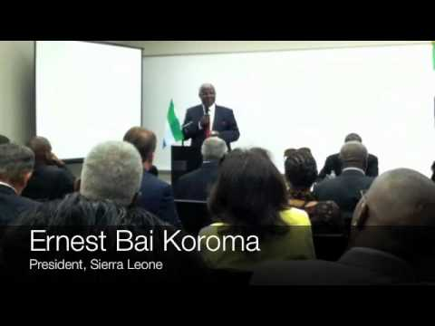 Sierra Leone President Pitches to Atlanta Investors