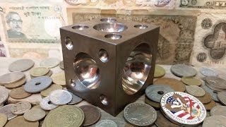 using a dapping doming block to make coin rings