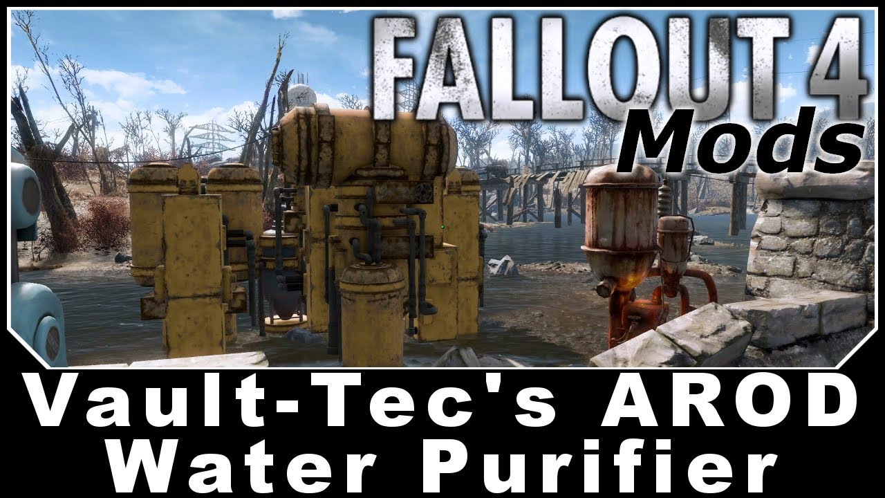 Fallout 4 Mods Vault Tec S Arod Water Purifier Youtube