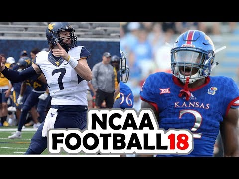 West Virginia @ Kansas - 9-23-17 NCAA Football 18 PRESEASON Simulation