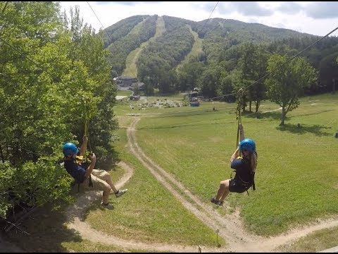 Canopy Zip-Line Tours at Mount Sunapee