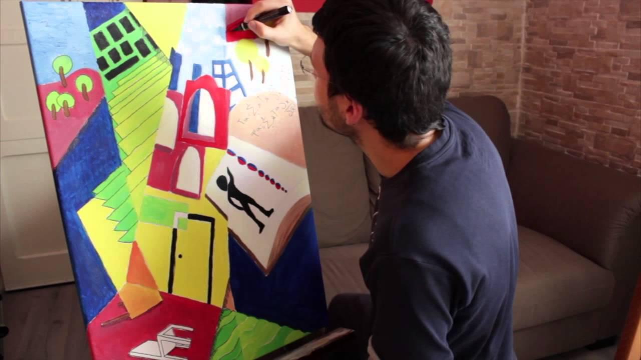 Dipingere quadro olio su tela astratto parte 2 ritocchi finali