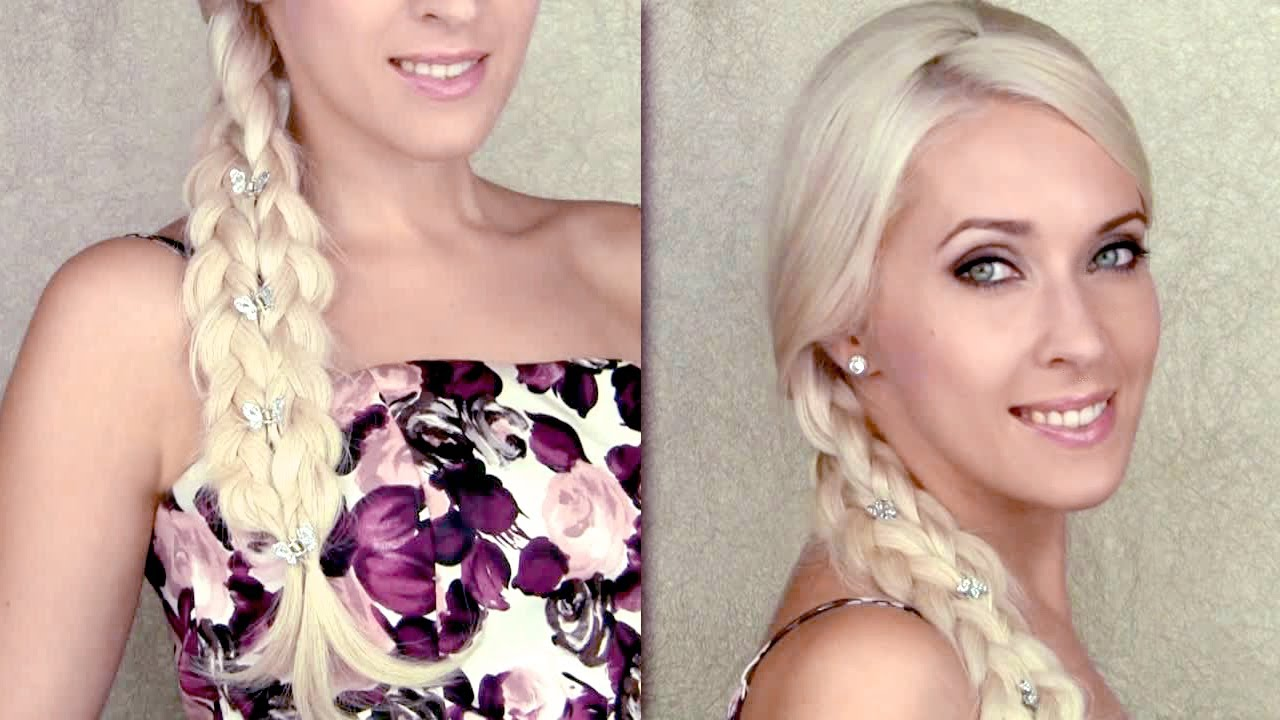 Cute Summer Hairstyle For Everyday 4 Strand Braid Illusion Long