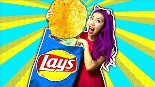WOW! Giant LAY'S Potato Chip Bag DIY! Real Giant Chip!!!