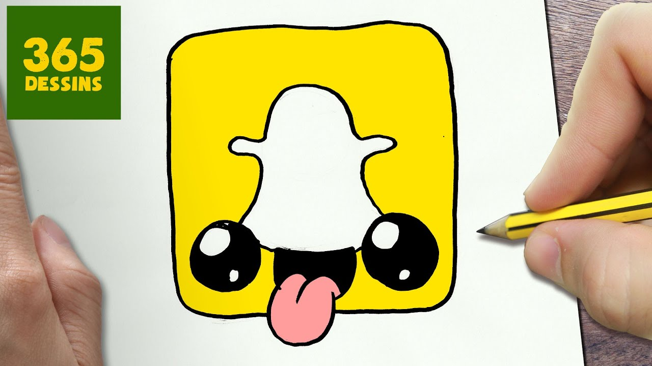 Comment Dessiner Logo Snapchat Kawaii étape Par étape Dessins Kawaii Facile