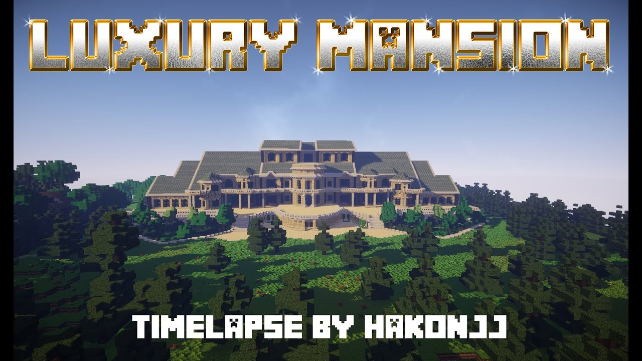 Minecraft Timelapse Luxury Mansion 1080p HD FREE DOWNLOAD