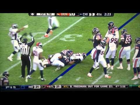 Denver Broncos LB Von Miller strip sacks The Bears QB Jay Cutler late in the 4th quarter