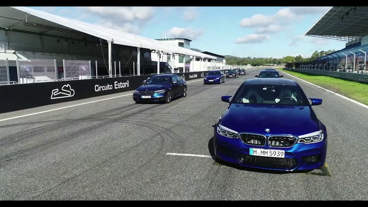 BMW M5 generations at the track