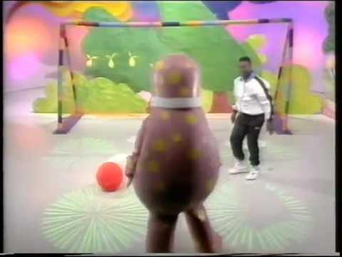 Mr Blobby Plays Football with Garth Crooks