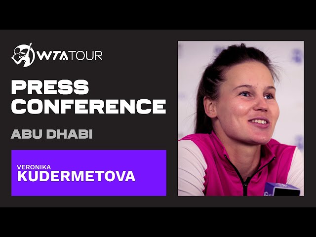 Veronika Kudermetova   2021 Abu Dhabi Semifinals Press Conference