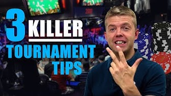 Poker Strategy: Live Tournament TIPS
