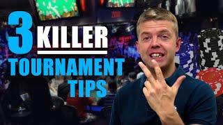 Poker Strategy: Live Tournament TIPS