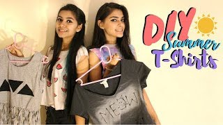DIY: SUPER EASY SUMMER T-SHIRTS | Saina and Tanisha