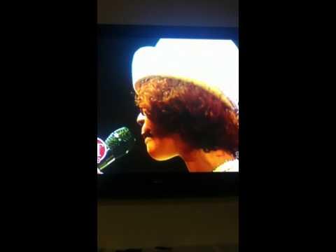 Rare Whitney Houston singing the negro anthem