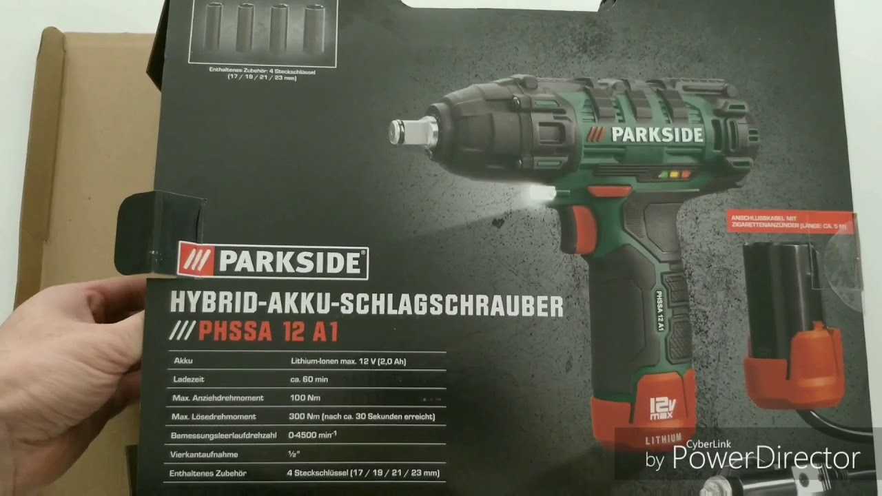 parkside hybrid akku schlagschrauber phssa 12 a1 test lidl youtube. Black Bedroom Furniture Sets. Home Design Ideas