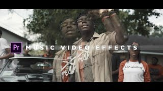 Music Video Effects Tutorial Adobe Premiere Pro NO PLUGINS