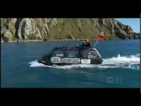 Toyota Van Crosses Cook Strait (2009)