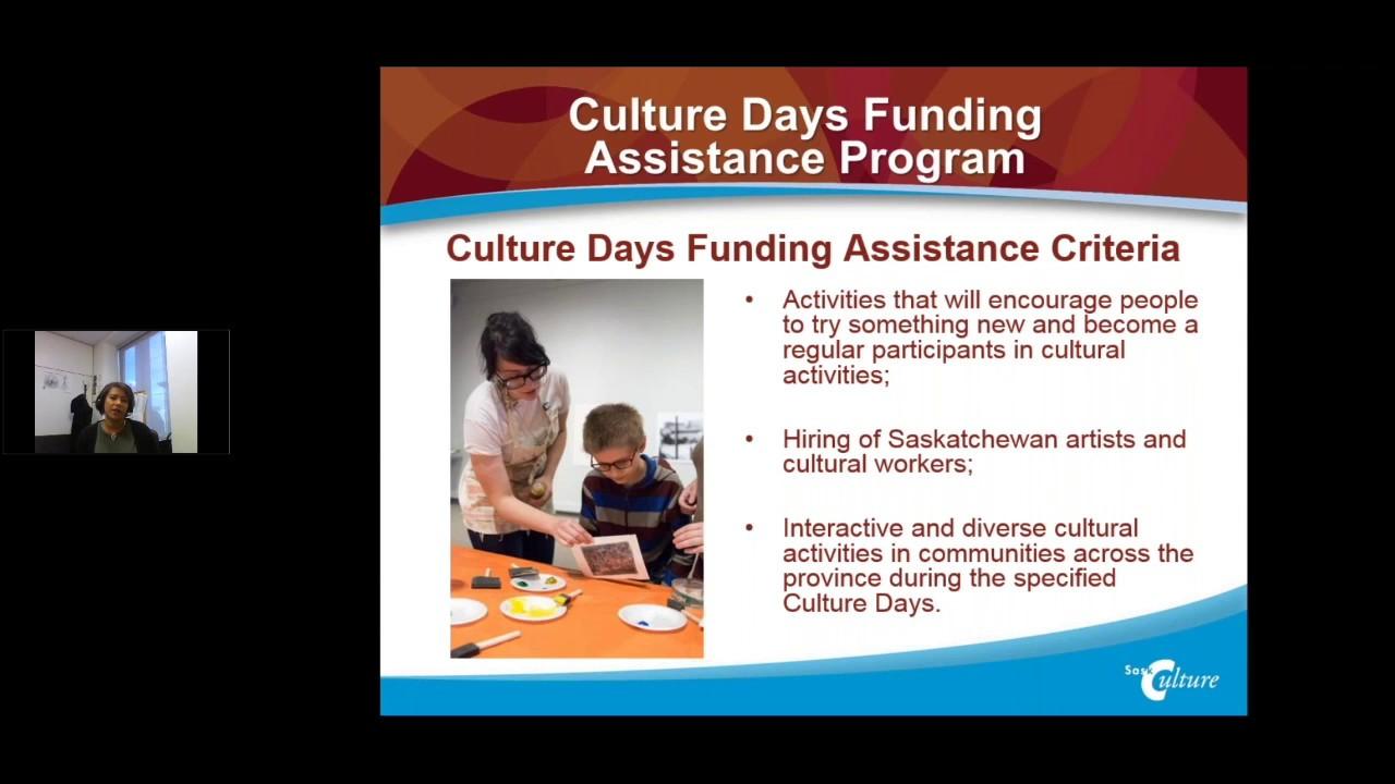 SaskCulture ~ Culture Days Funding Assistance