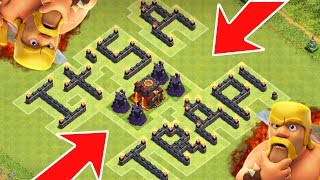 Clash Of Clans | EPIC UNDEFEATED TROLL / TRAP BASE!! Funny Defensive Strategy CoC!