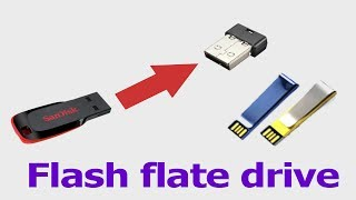 How to create usb flat flash drive make at home easy | usb | pen drive