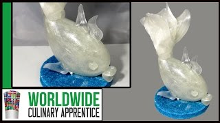 Blown Sugar into a Fish - Pulled Sugar - Sugar Showpiece - Part 2