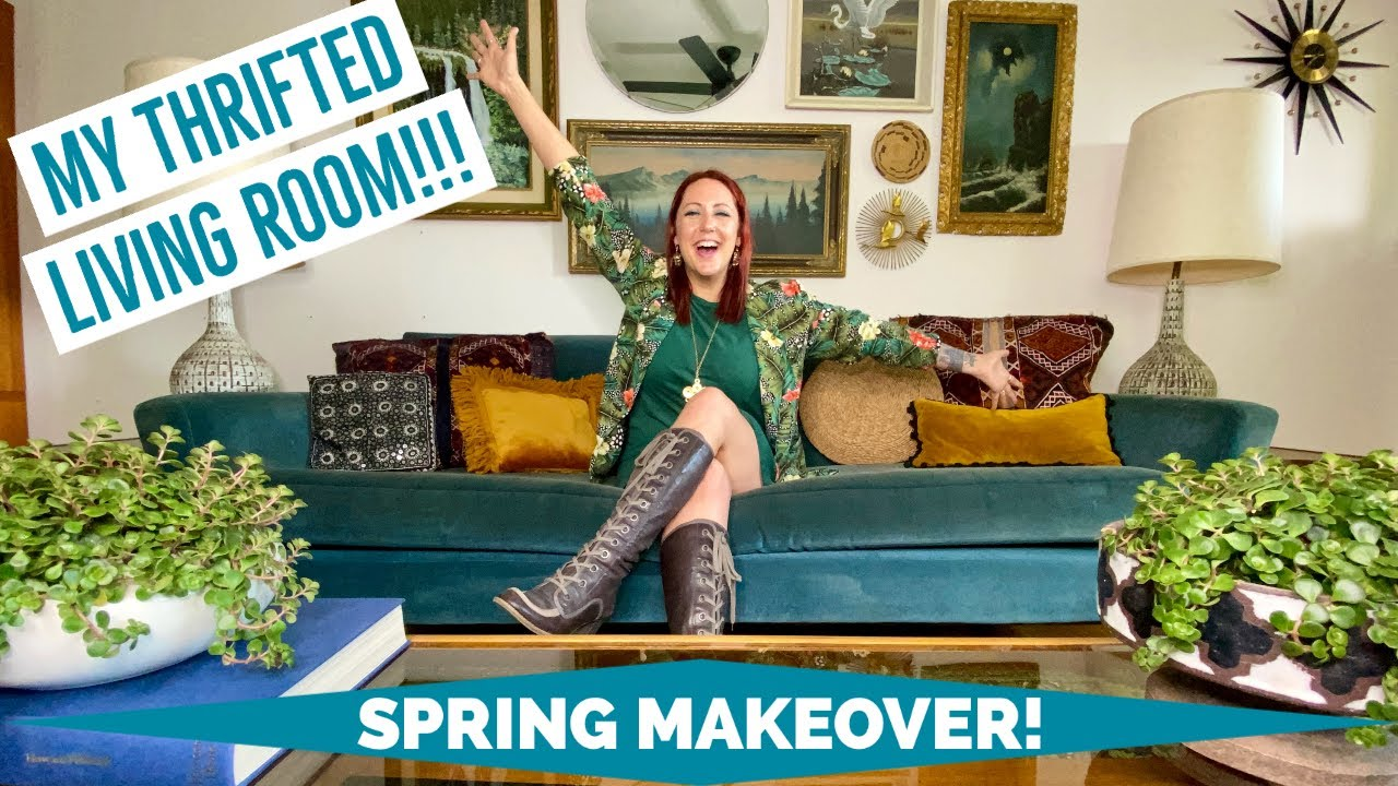 MY THRIFTED LIVING ROOM MAKEOVER! I refreshed my living ...
