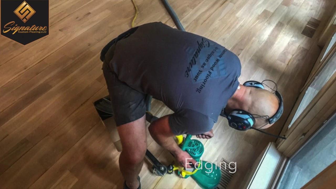 Birch Wood Floor Refinish Green Bay Wi Youtube