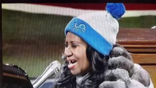 aretha franklin s thanksgiving national anthem lions vs vikings