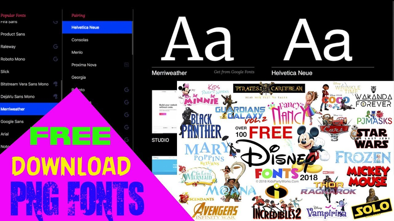 PNG FONTS & 2500 + FONTS # Free download # Bengali + English + Hindi PNG  FONTS #