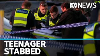 Six males arrested after 16yo boy stabbed to death at suburban Melbourne shopping centre | ABC News