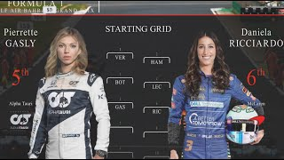 F1 Starting  Grid BUT The Drivers Are Females