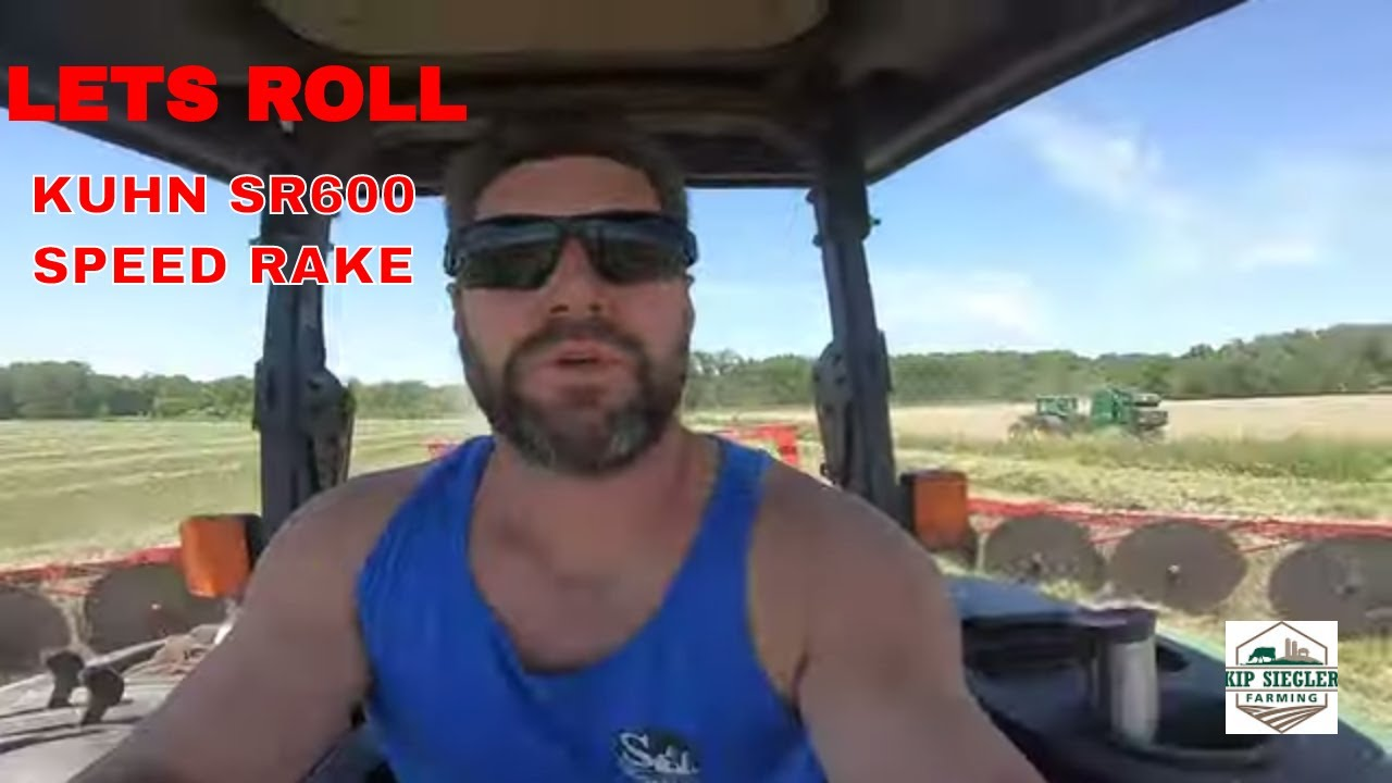 Raking Hay Like a Pro   Second Cutting Hay starts