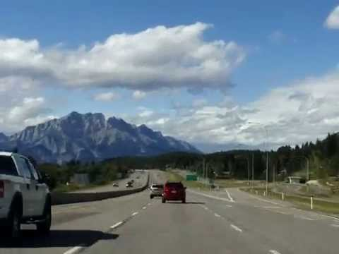 Canmore to Banff Alberta Canada Drivelapse: TakeMyTrip.com Time Lapse Drive